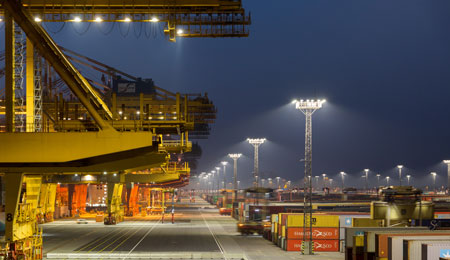 Philips Lighting ClearFlood Eurogate Bremerhaven