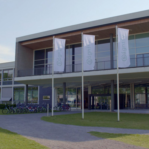 Signify-HQ-at-High-Tech-Campus-Eindhoven-front-angle