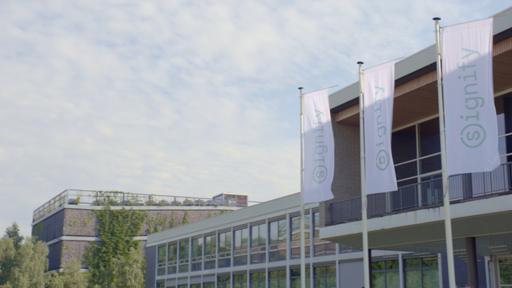 Signify HQ at Hight Tech Campus Eindhoven (PAN shot)