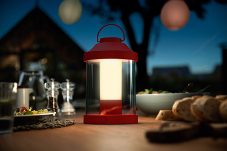 The new portable outdoor light, Philips Abelia LED lantern