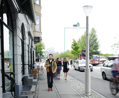The Philips Lightpole Site Slim, a new connected street light for Europe