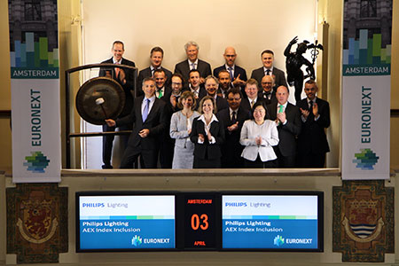 Philips Lighting: Included in Euronext's AEX Index
