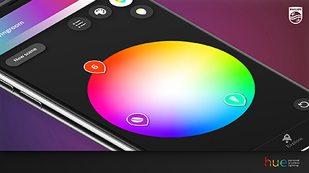 Philips Hue App 3.0 color pickers
