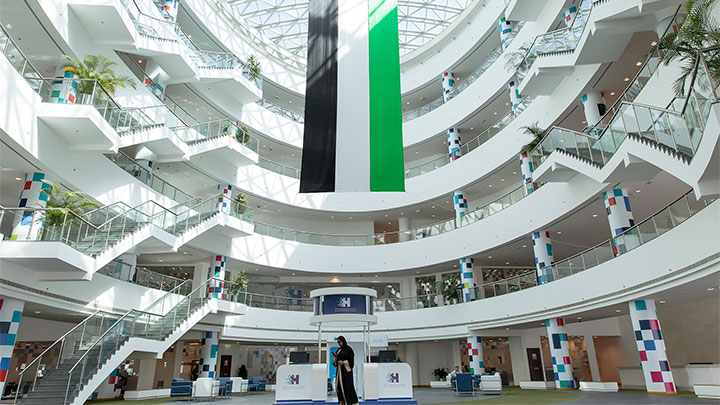 Smart university atrium with Interact Software