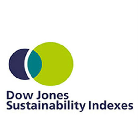 Logo for Dow Jones Sustainability index