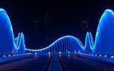 Meydan Bridge in Dubai lit with Philips Color Kinetics LEDs