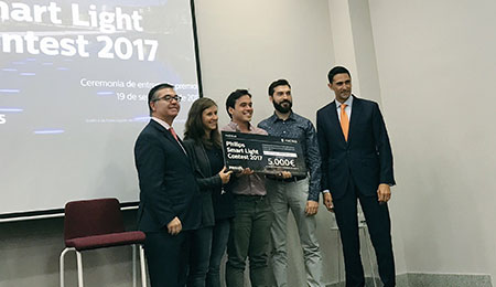 "Aluzina Madrid, ganador de la primera edición del reto ""Philips Smart Light Contest 2017"" promovido por el Ayuntamiento de Madrid y Philips Lighting"