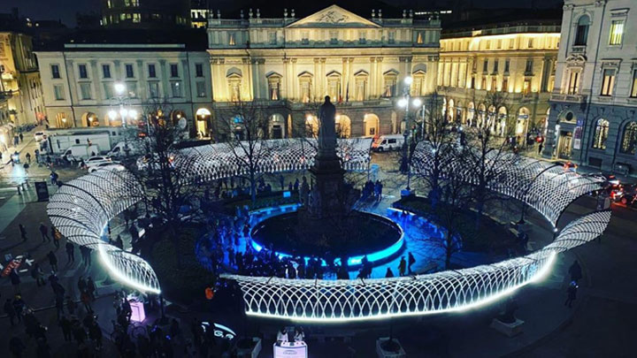 Lighting for good in Milan's Piazza della Scala