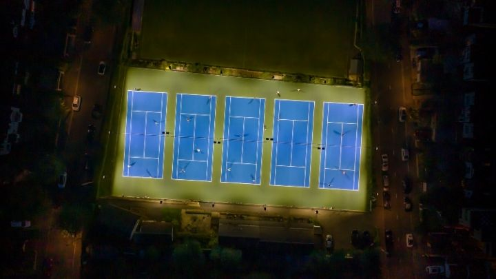 Purley Bury tennis club gets an LED makeover