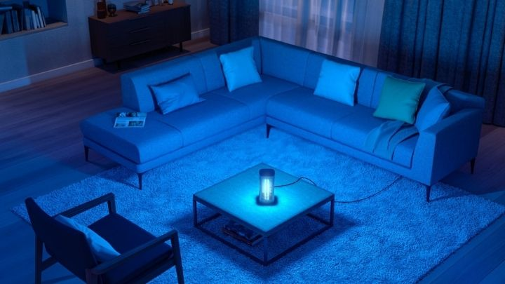 Effective disinfection for the home with UV-C lamp