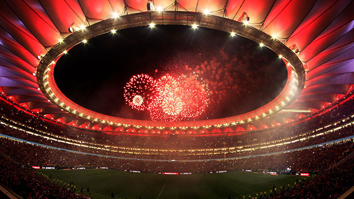 Lighting up Europe's football final
