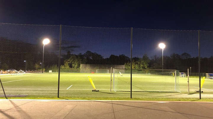 Lighting for football and moths at Red Bull Academy