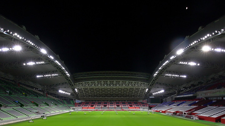 New LED lighting in Kobe Misaki stadium for world's biggest rugby tournament in Japan