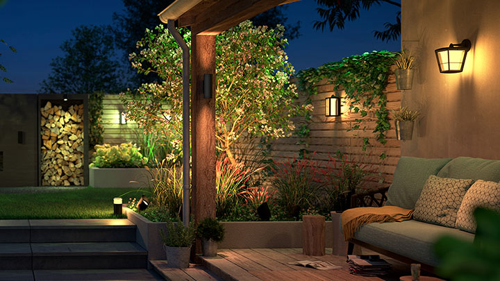 New Philips Hue Outdoor Range Lights Up