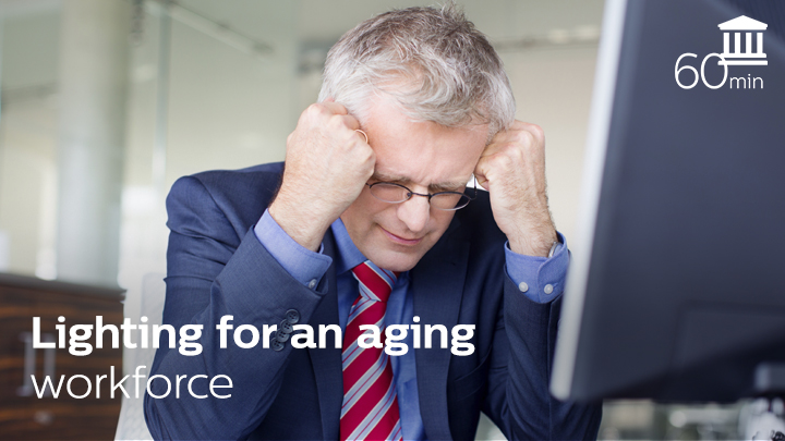 Aging friendly office lighting