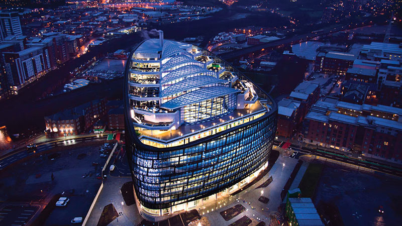 One Angel Square, Manchester, UK - Lighting Design: Buro Happold - 3D Reid, BAM © Trevor Palin