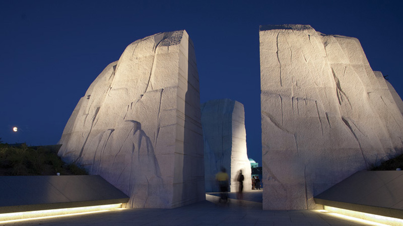 Martin Luther King, Jr. Memorial (in collaboration with David A. Mintz), Washington, DC, United States – Lighting designer Randy Burkett © Anice Hoachlander, Hoachlander Davis