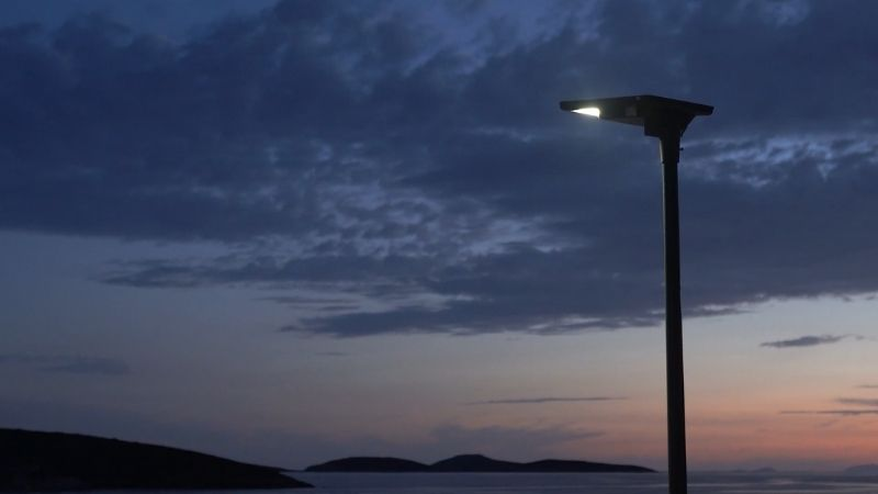 Signify installs solar lighting in the island of Leipsoi