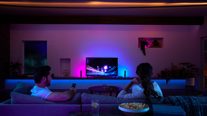 Grab the popcorn! Take your home entertainment to the next level with the Philips Hue Play HDMI Sync Box