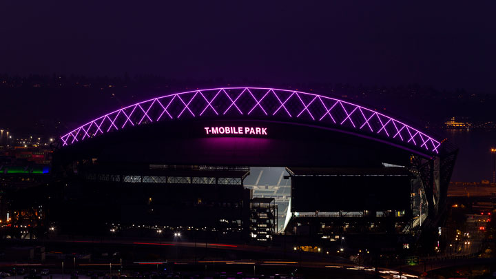 T-Mobile Park, Home of the Seattle Mariners, becomes a bright spot in the city skyline with Signify's connected LED lighting
