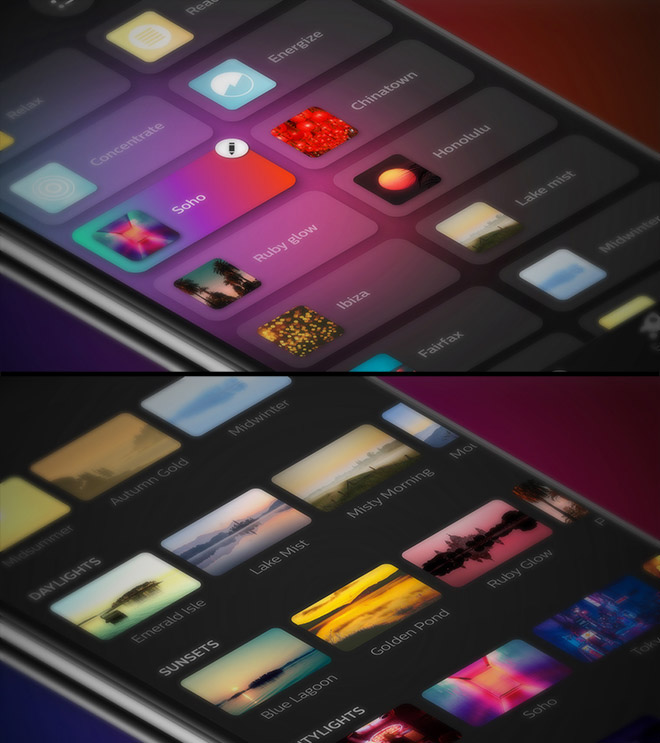 Philips Hue app scenes library