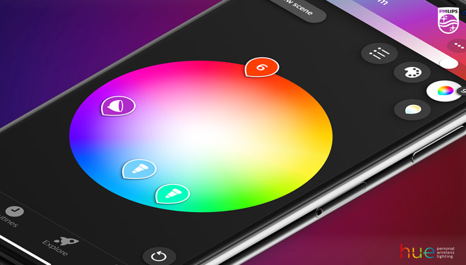 Philips Hue app color pickers