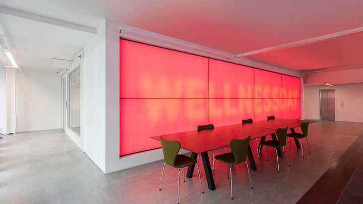 Improve well-being at your workplace with luminous textile panels