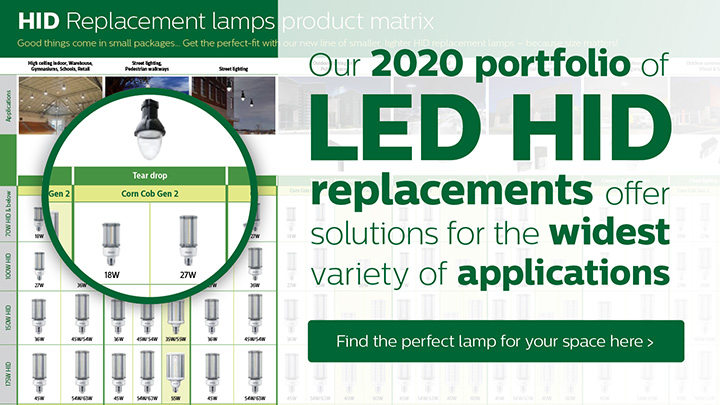Philips LED HID Replacement Lamps product matrix