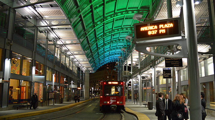 Dynamic lighting transforms the San Diego Trolley Station