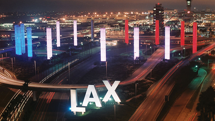 Four airports around the world choose Color Kinetics LED lighting systems