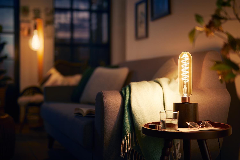 Nieuwe collectie extra grote deco led kooldraadlampen van philips